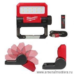 Аккумуляторный фонарь зарядка через USB MILWAUKEE L4 FFL-201 4933464821