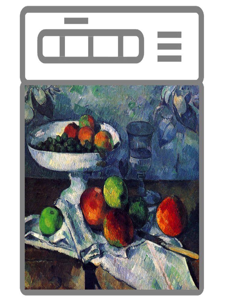 Наклейка на посудомоечную машину - Ваза с фруктами   магазин интерьерные наклейки