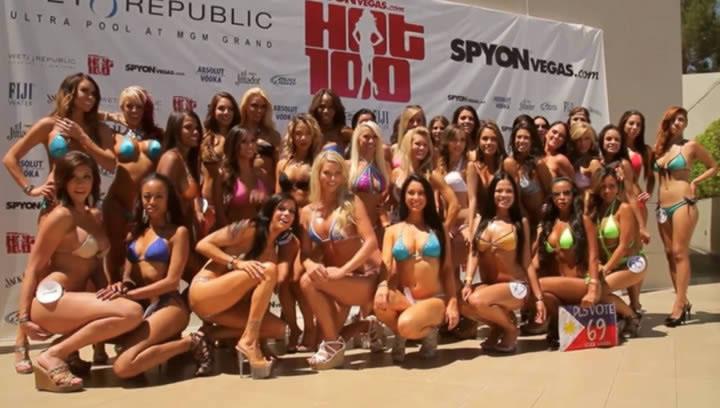 Конкурс мини бикини. Mini bikini contest. Красивые девушки