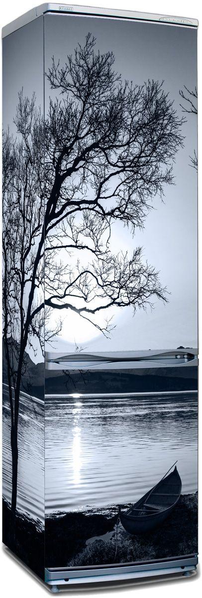 Виниловая наклейка на холодильник - Белые ночи